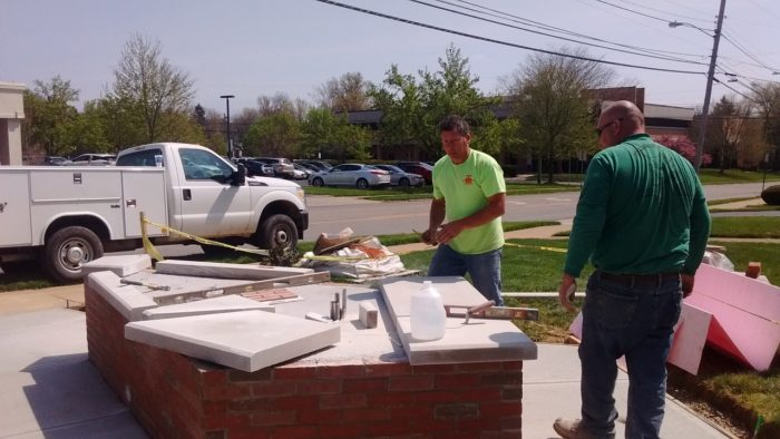 New CS Wooster sign construction